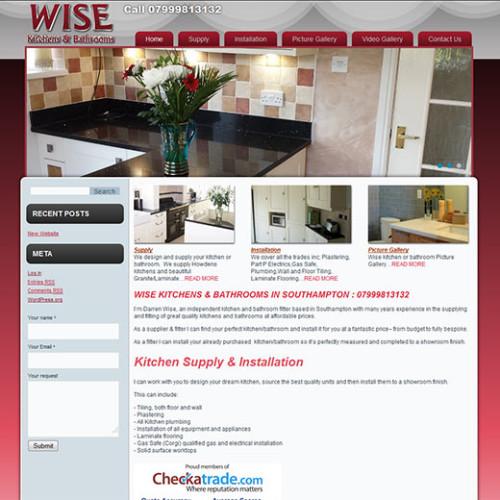 Website Design (Wordpress) - Wise - Kitchen & Bathrooms