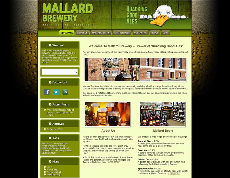 Website Design in Southampton – Mallard Brewery (WordPress)