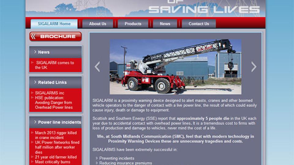Website Design in Southampton – Sigalarm – WordPress