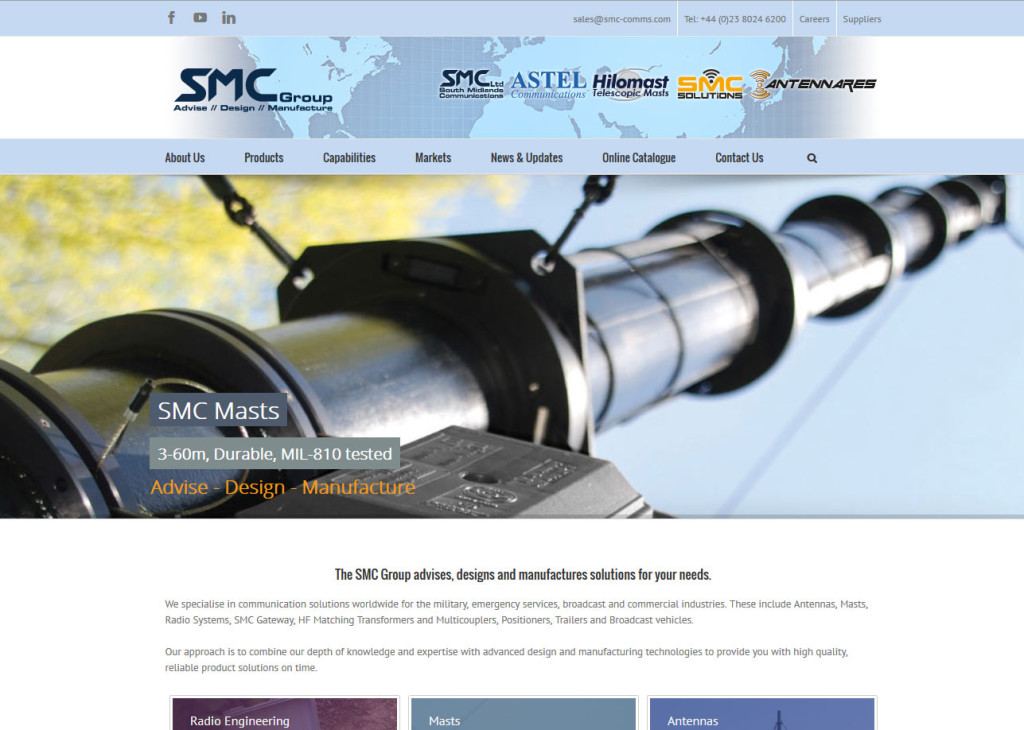Website Design in Southampton – South Midlands Communication Ltd