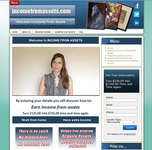 incomefromassets.com – WordPress Design