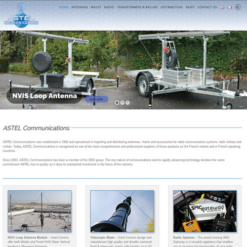 Website Design Wordpress - Astel Comms